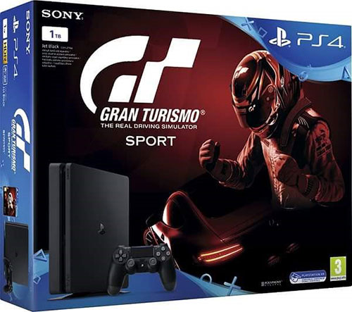Sony Playstation 4 Slim 1TB + Gran Turismo Sport