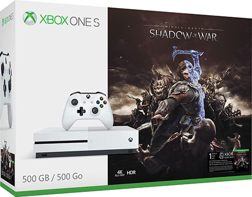 Microsoft Xbox One S 500GB Middle-Earth Shadow Of War Bundle - Xbox One Gépek