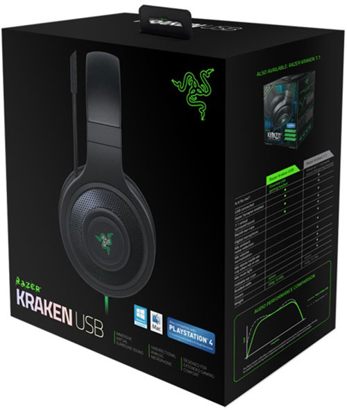 RAZER Kraken Black USB Gaming Headset
