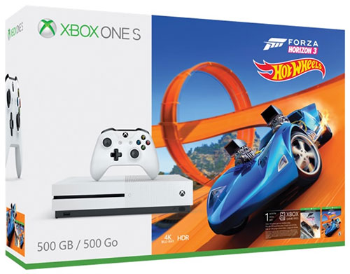 Microsoft Xbox One S 500GB Forza Horizon 3 + Hot Wheels Bundle - Xbox One Gépek