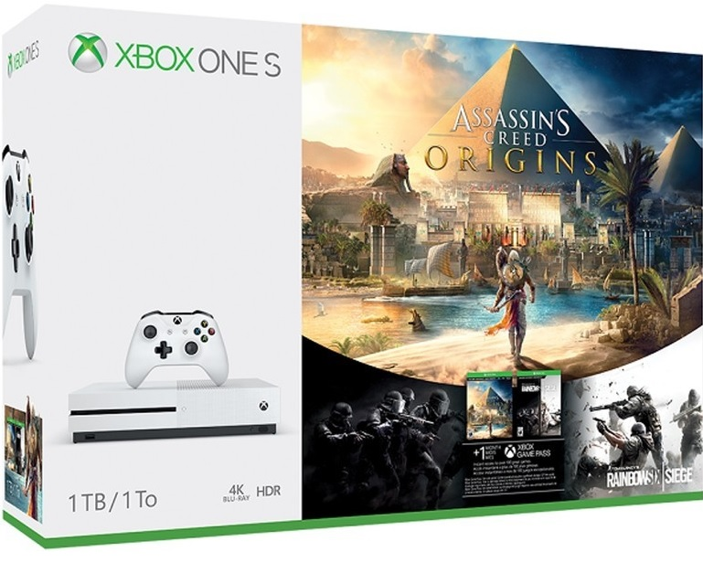 Microsoft Xbox One S 1TB Assassins Creed Origins Bundle (Ajándék Rainbow Six Siege) - Xbox One Gépek