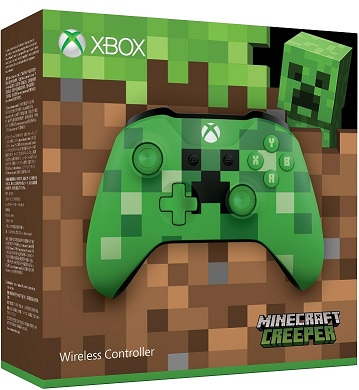 Microsoft Xbox One Wireless Controller Minecraft Creeper  - Xbox One Kiegészítők