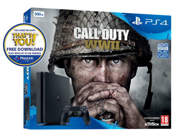 Sony PlayStation 4 Slim 500 GB + Call of Duty WWII