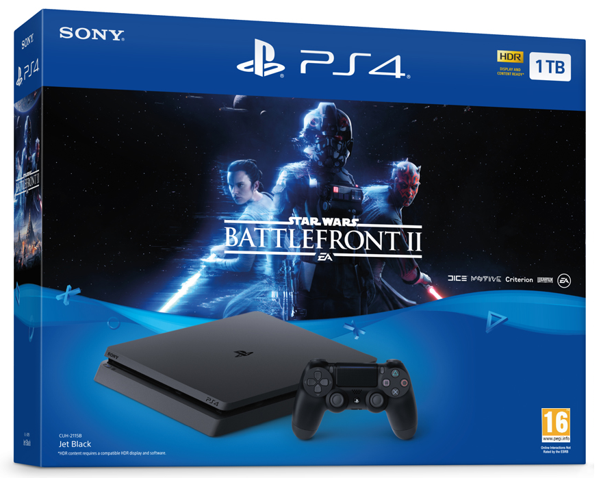 Sony PlayStation 4 Slim 1TB + Star Wars Battlefront II