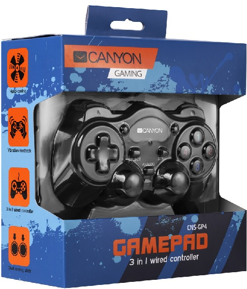 Canyon CNS-GP4 USB Gamepad PC,PS2,PS3