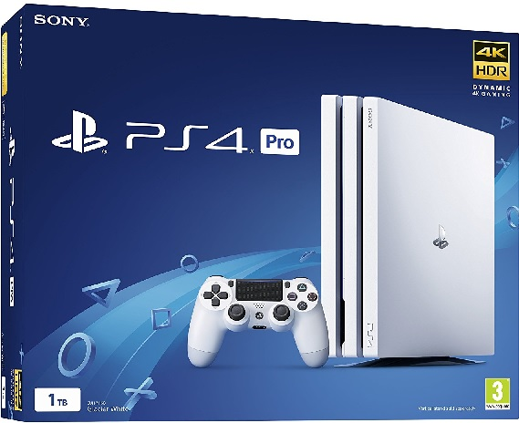 Sony PlayStation 4 Pro 1TB Glacier White - PlayStation 4 Gépek