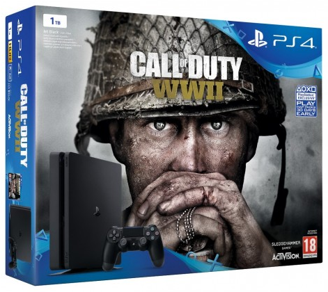 Sony Playstation 4 Slim 1TB + Call Of Duty WWII - PlayStation 4 Gépek