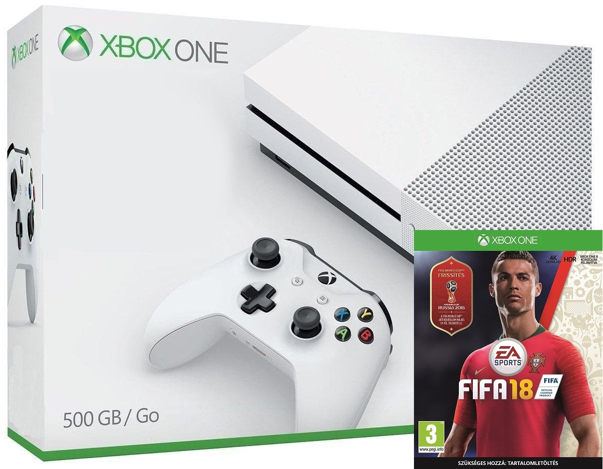 Microsoft Xbox One S 500GB Fifa 18 World Cup 2018 Bundle - Xbox One Gépek