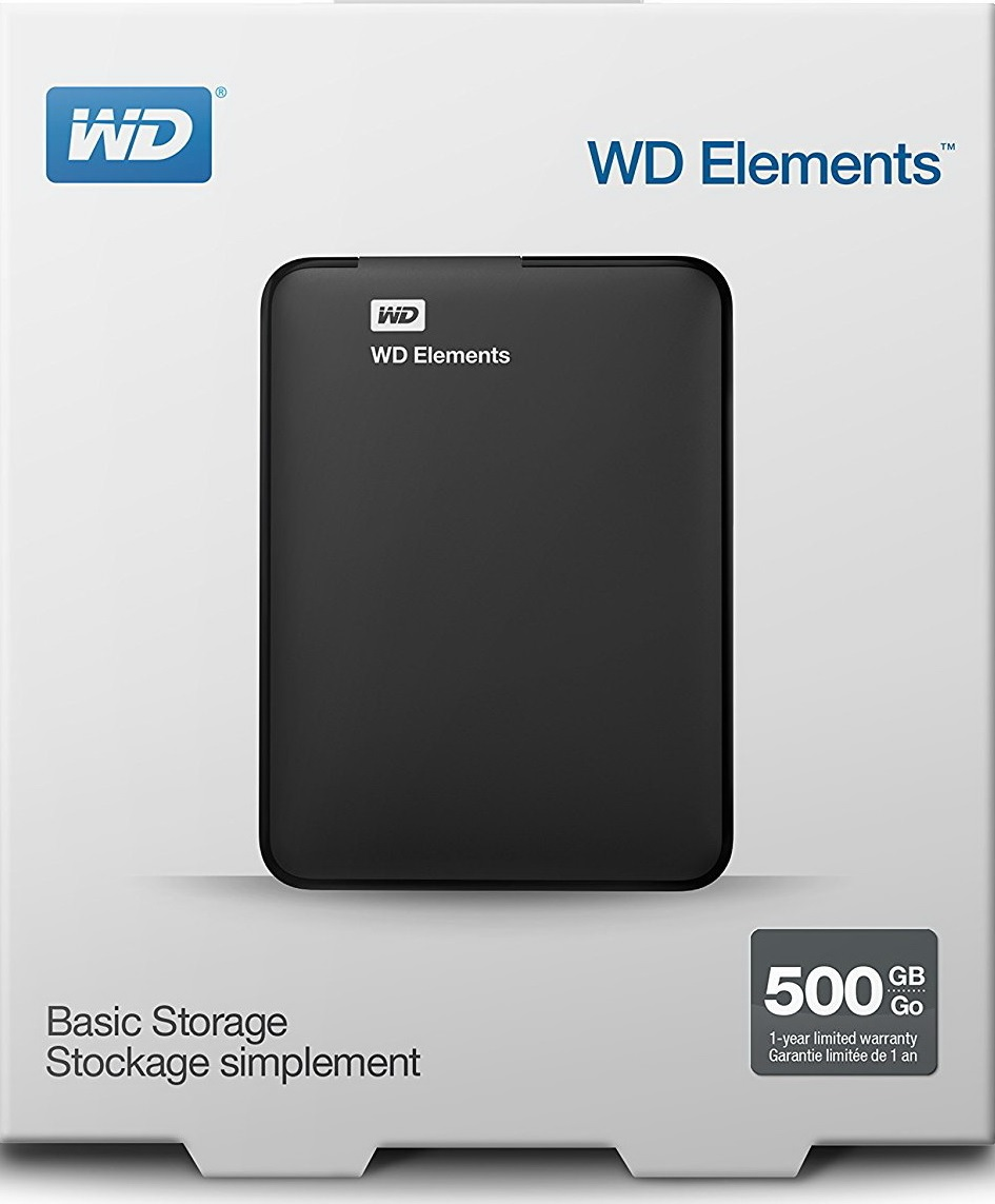 Western Digital WD Elements 500GB külső USB3.0 HDD