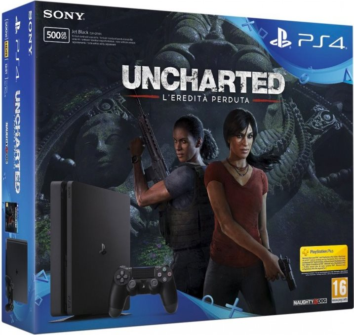Sony Playstation 4 Slim 500 GB + Uncharted The Lost Legacy