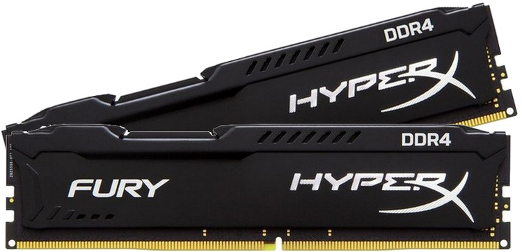 Kingston DDR-4 8GB /2666 HyperX Fury Black KIT - Számítástechnika RAM