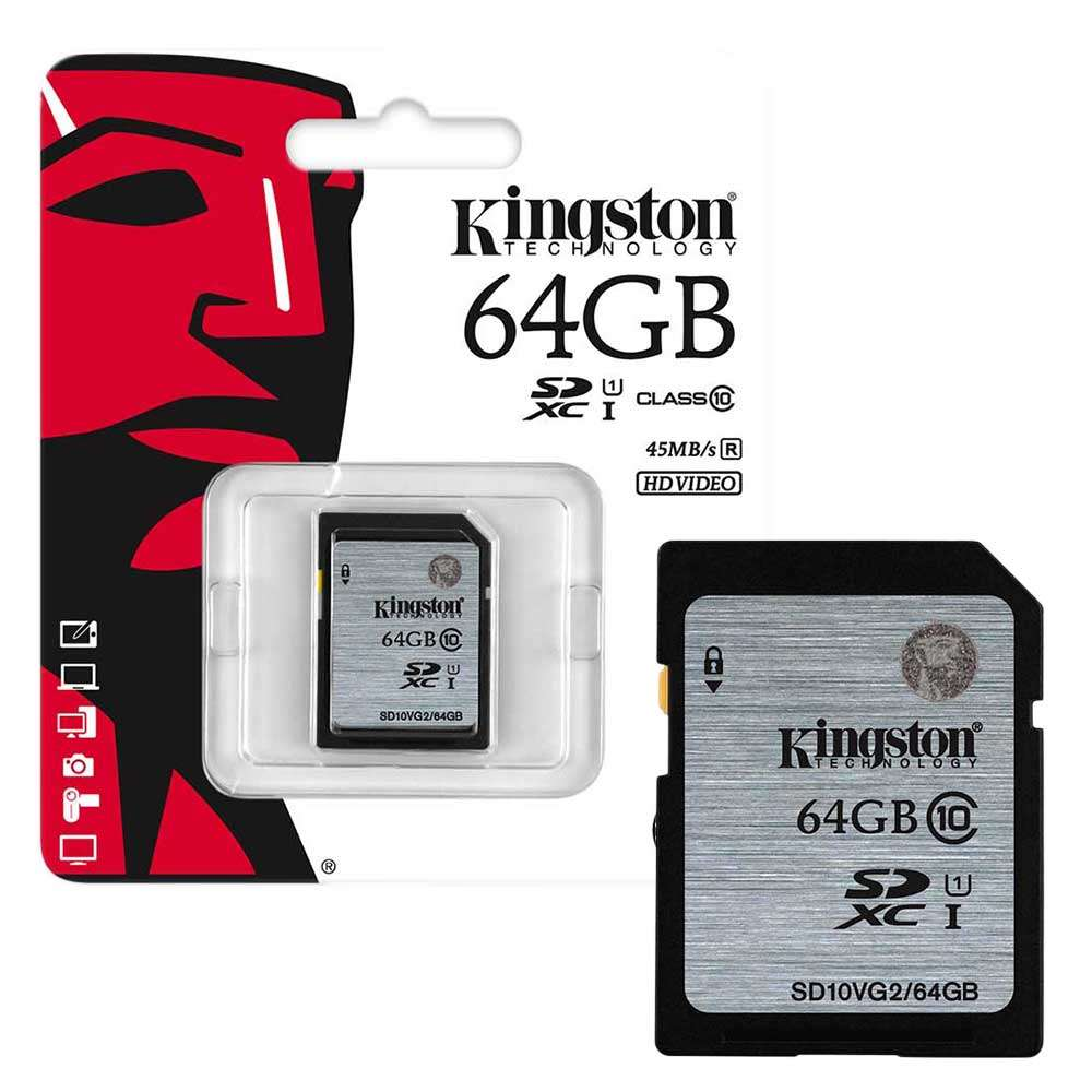 Kingston 64GB SDXC UHS-I3 Class10 + Adapter - Multimédia Memóriakártya