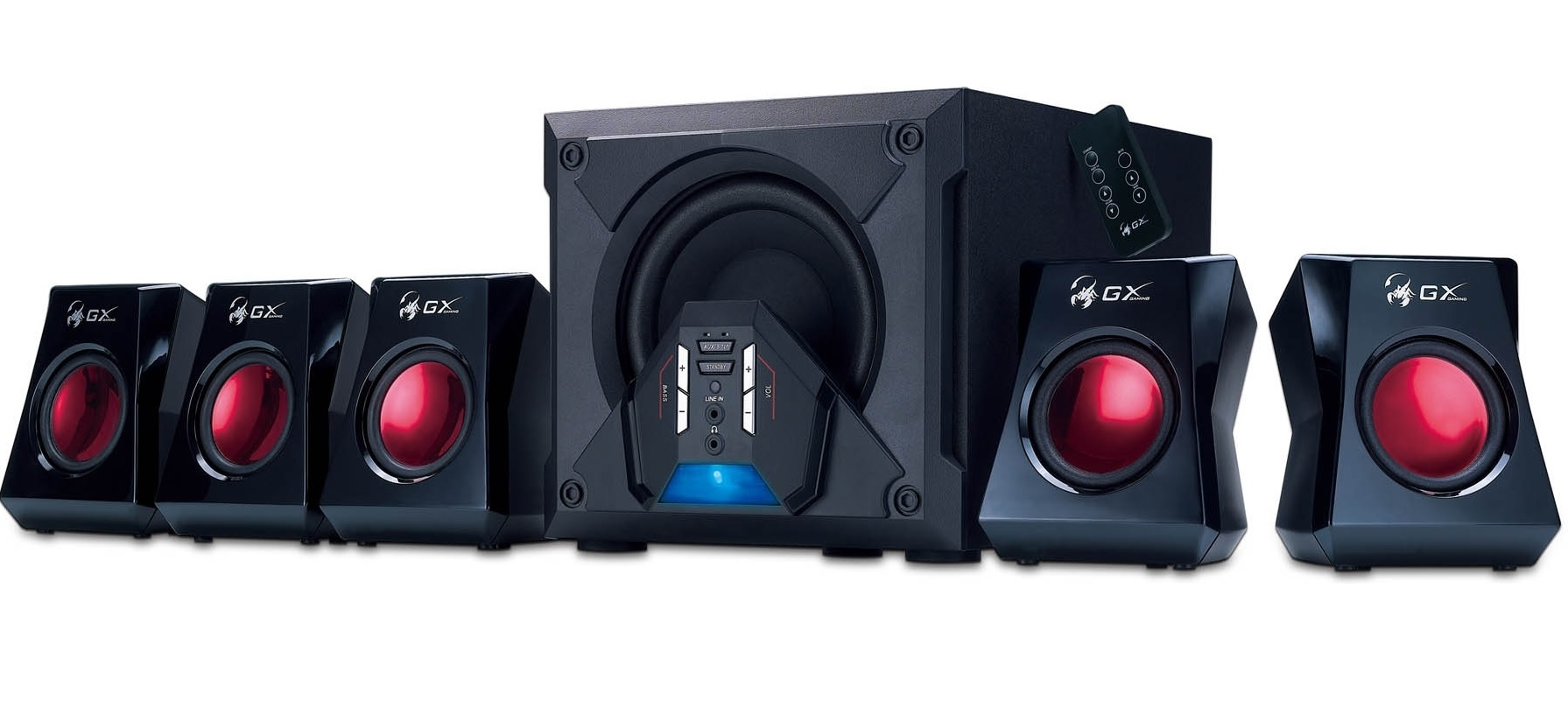 Genius 5.1 SW-G5.1 3500 Black - Red - Multimédia Hangfalak