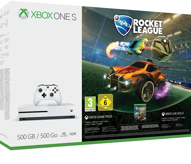 Microsoft Xbox One S 500 GB Rocket League Bundle (Ajándék 3 Hó Live) - Xbox One Gépek