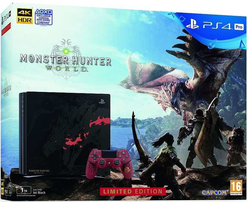 Sony Playstation 4 Pro 1TB Monster Hunter World Limited Edition Bundle