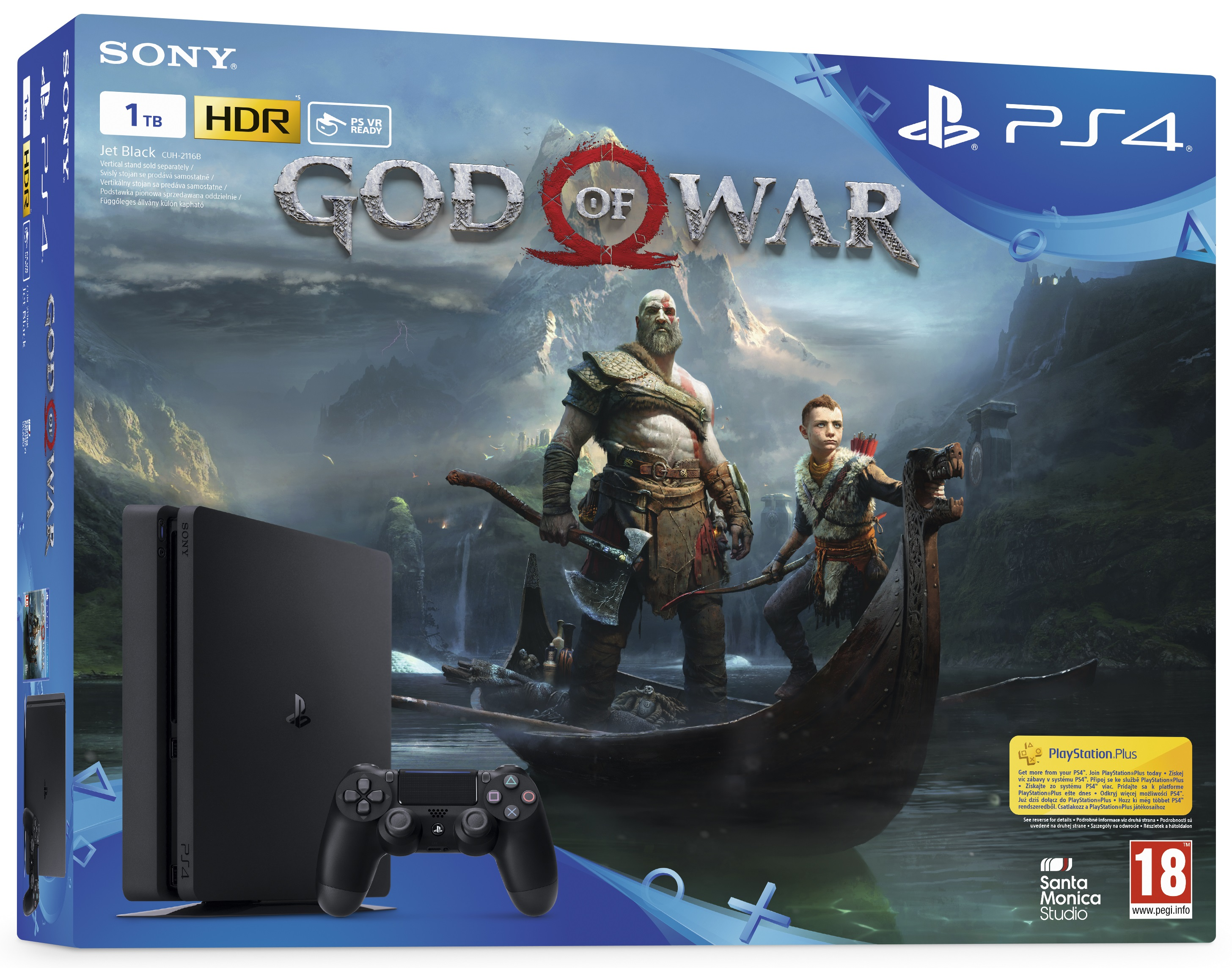 Sony Playstation 4 Slim 1TB God of War Bundle