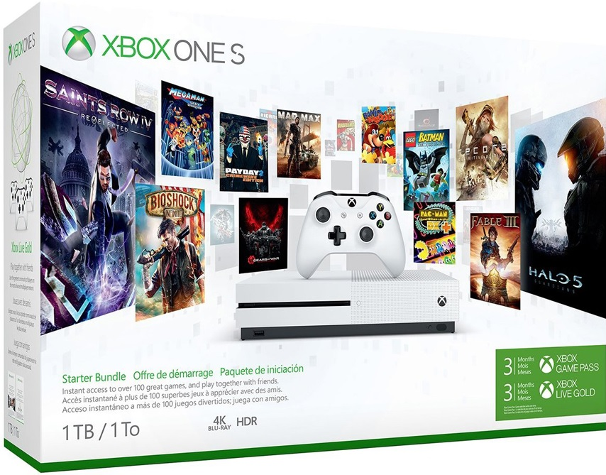 Microsoft Xbox One S 500GB 3 Hónap Live Gold Plusz 3 Hónap Game Pass Bundle - Xbox One Gépek
