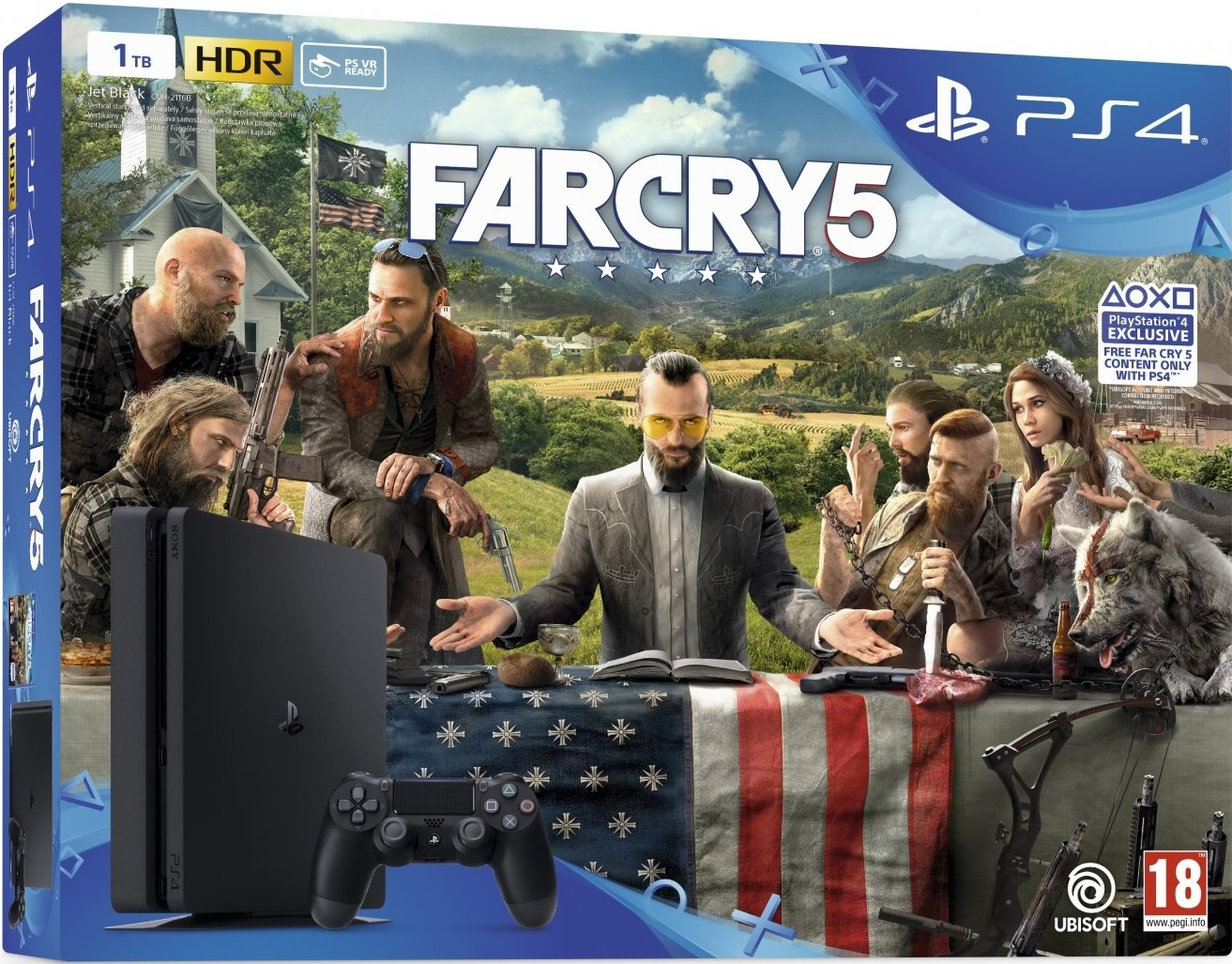 Sony Playstation 4 Slim 1TB Far Cry 5 Bundle