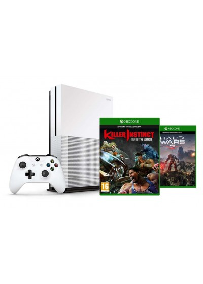 Microsoft Xbox One S 1TB+Killer Instinct+Halo Wars 2 Bundle - Xbox One Gépek