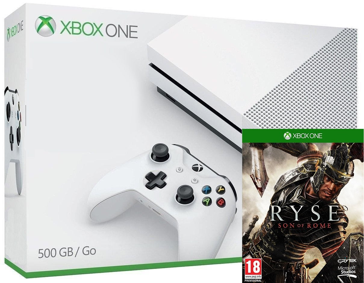 Microsoft Xbox One S 500GB + Ryse Son of Rome - Xbox One Gépek