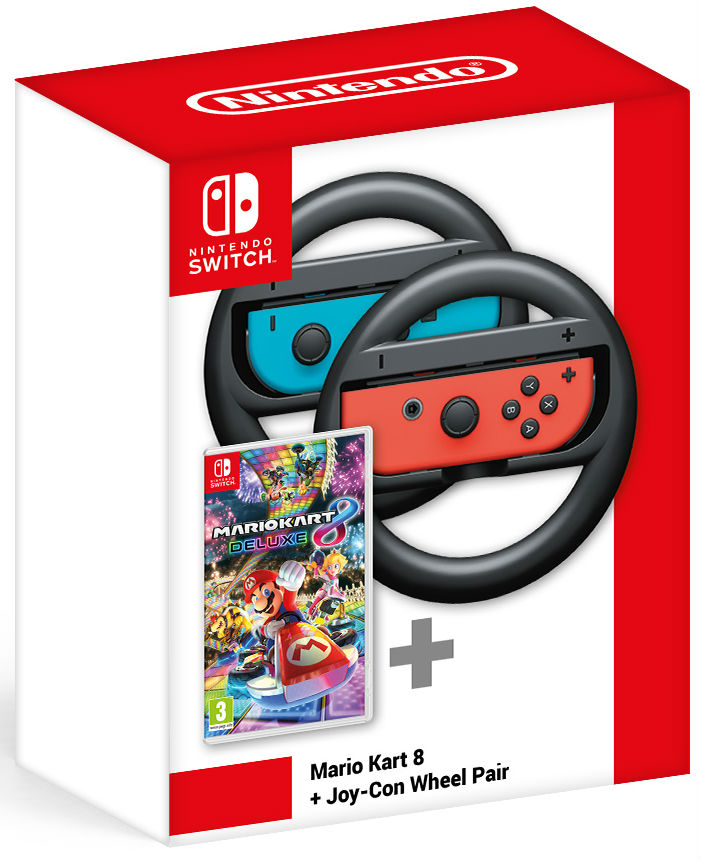 Mario Kart 8 Deluxe Switch + Joy-Con Wheel Pair