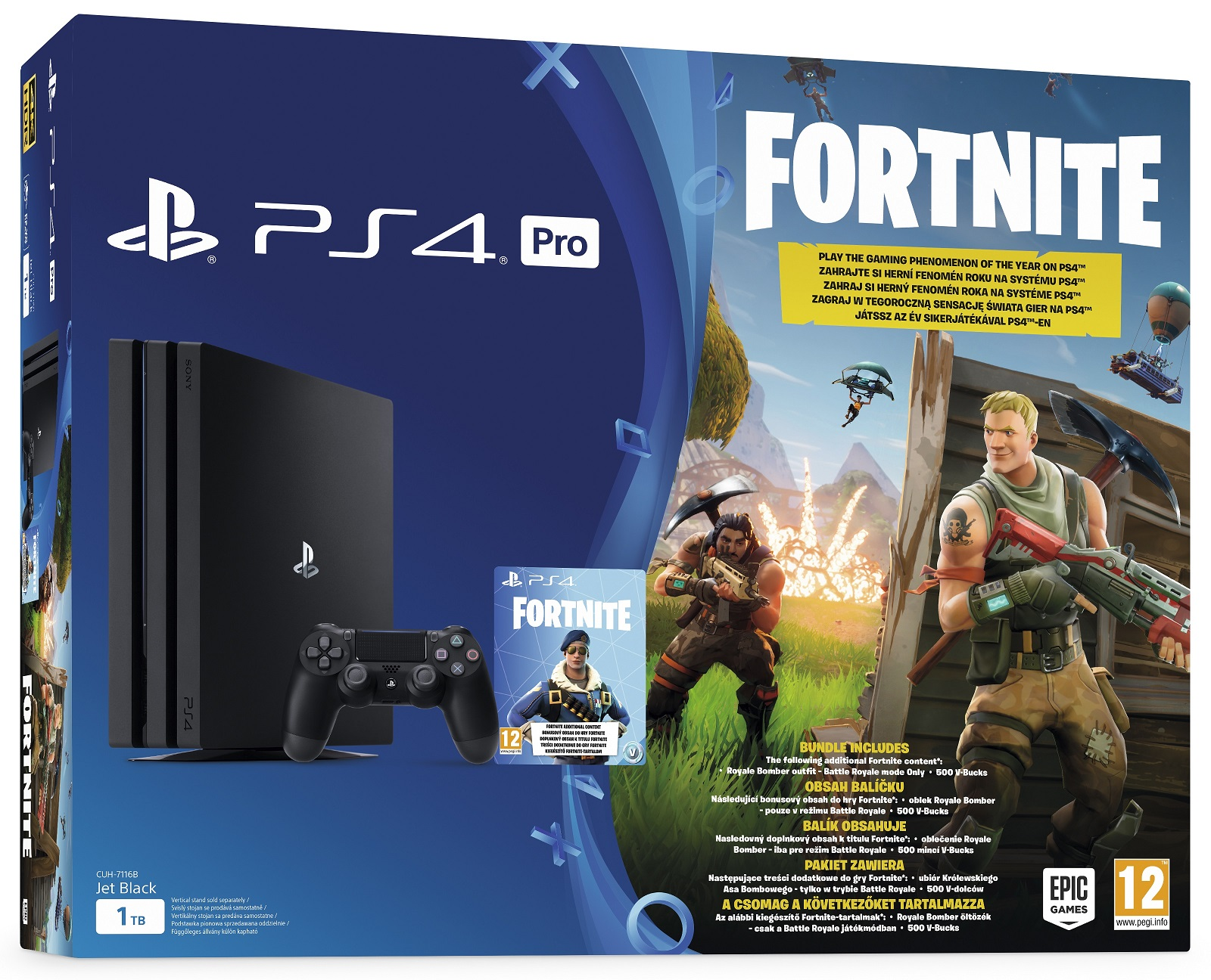 Sony Playstation 4 Pro 1TB Fortnite Bundle
