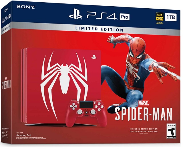 Sony Playstation 4 Pro 1TB Spider-Man Limited Edition - PlayStation 4 Gépek