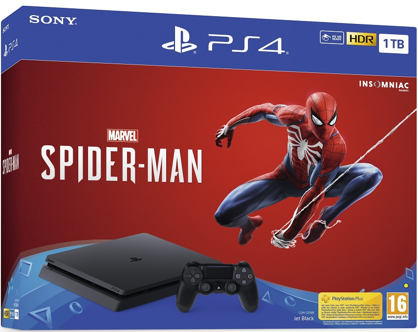 Sony Playstation 4 Slim 1TB Spider-Man Bundle - PlayStation 4 Gépek