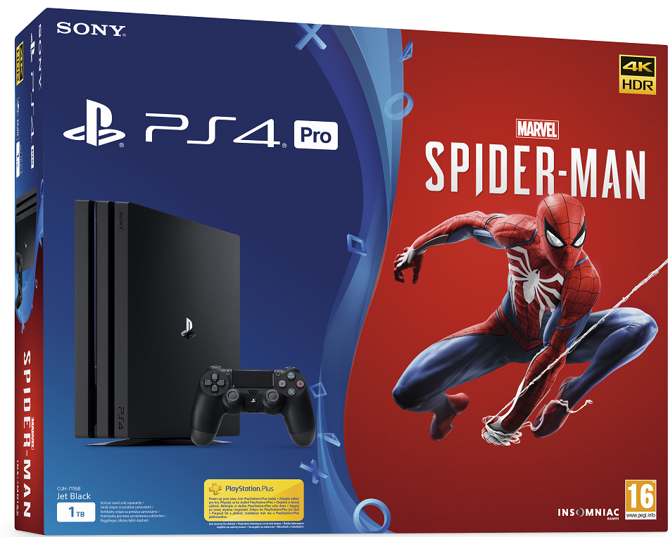 Sony Playstation 4 Pro 1TB Spider-Man Bundle (7216b) - PlayStation 4 Gépek