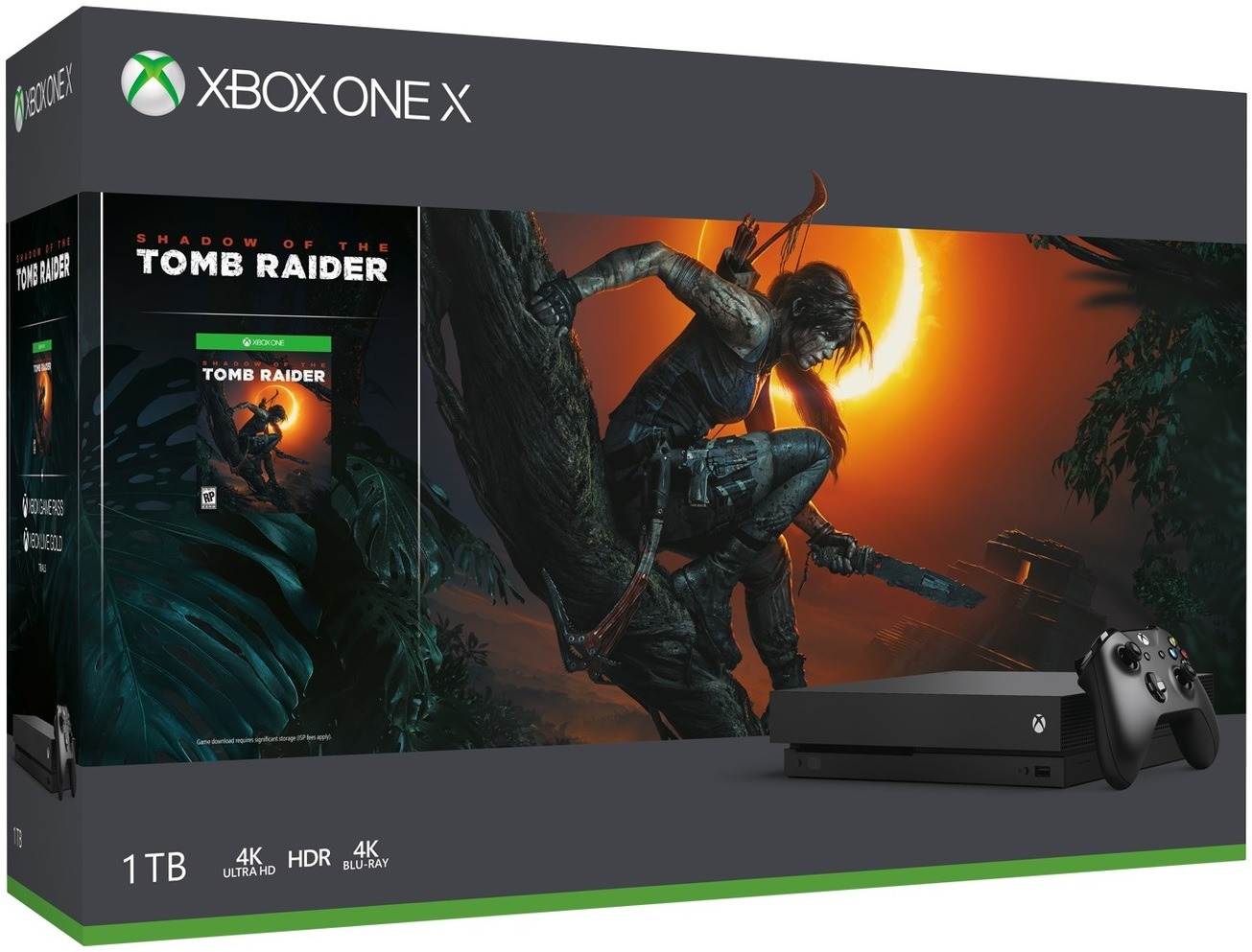 Microsoft Xbox One X 1TB Shadow of The Tomb Raider Bundle