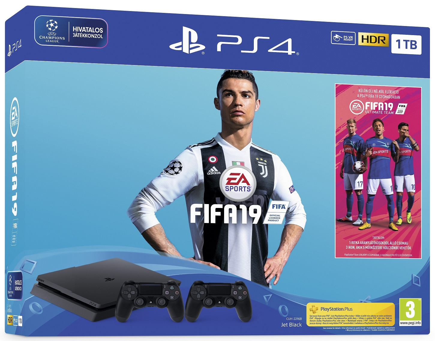 Sony PlayStation 4 Slim 1TB (PS4) + Fifa 19 + extra Dualshock 4 Controller