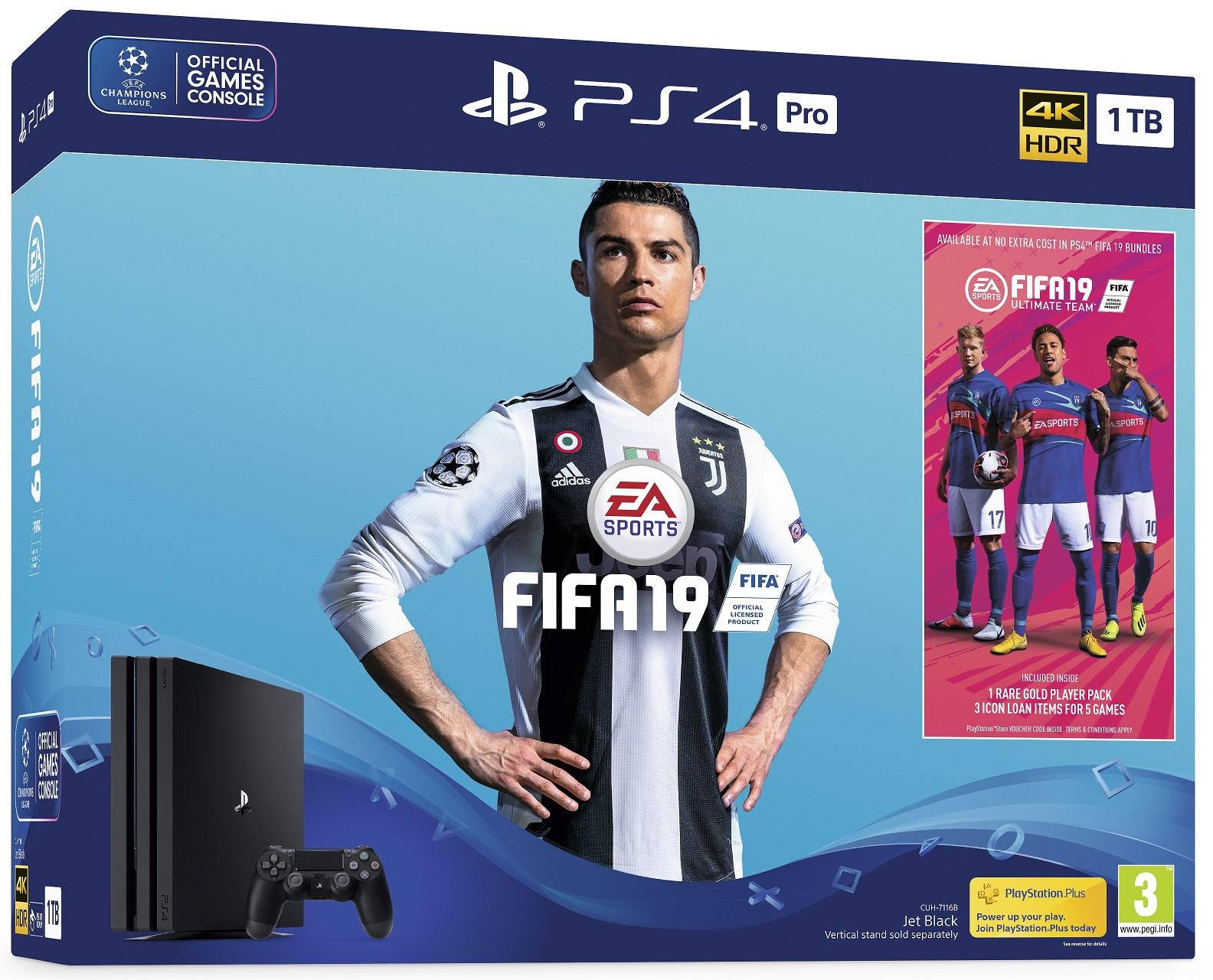 Sony Playstation 4 (PS4) Pro 1TB Fifa 19 Bundle