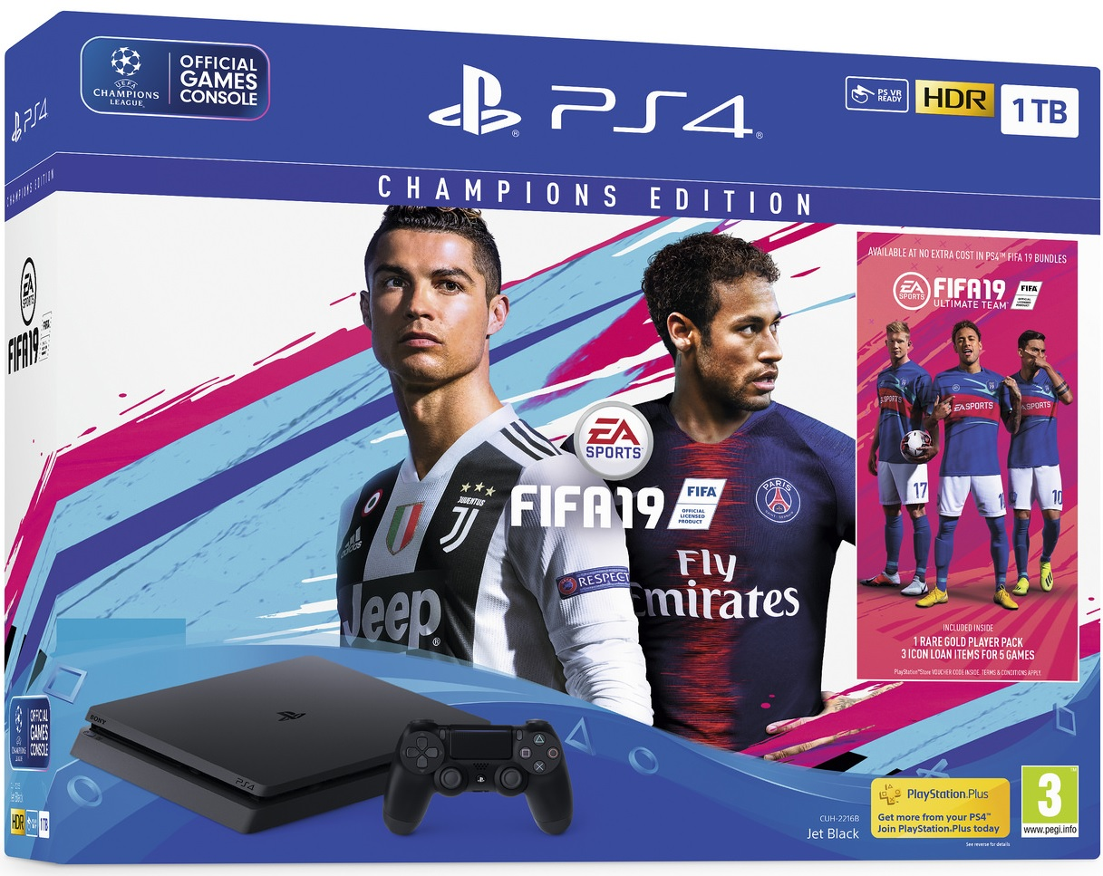 Sony PlayStation 4 Slim 1TB (PS4) + Fifa 19 Champions Edition