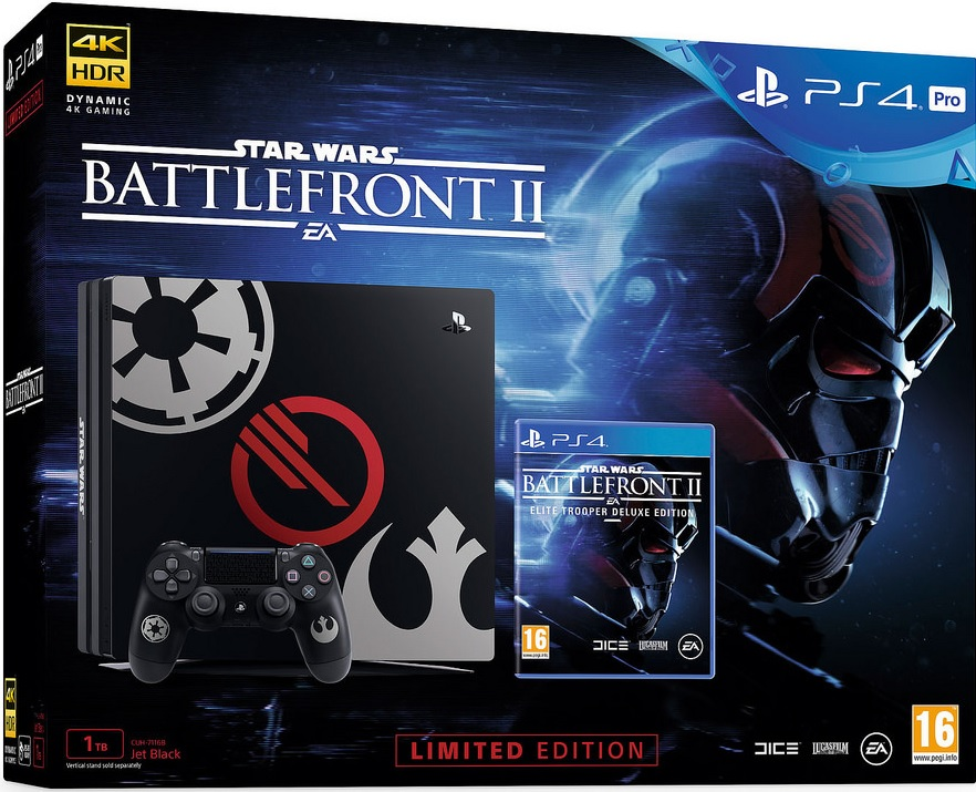 Sony Playstation 4 Pro 1TB Star Wars Battlefront II Limited Edition Bundle