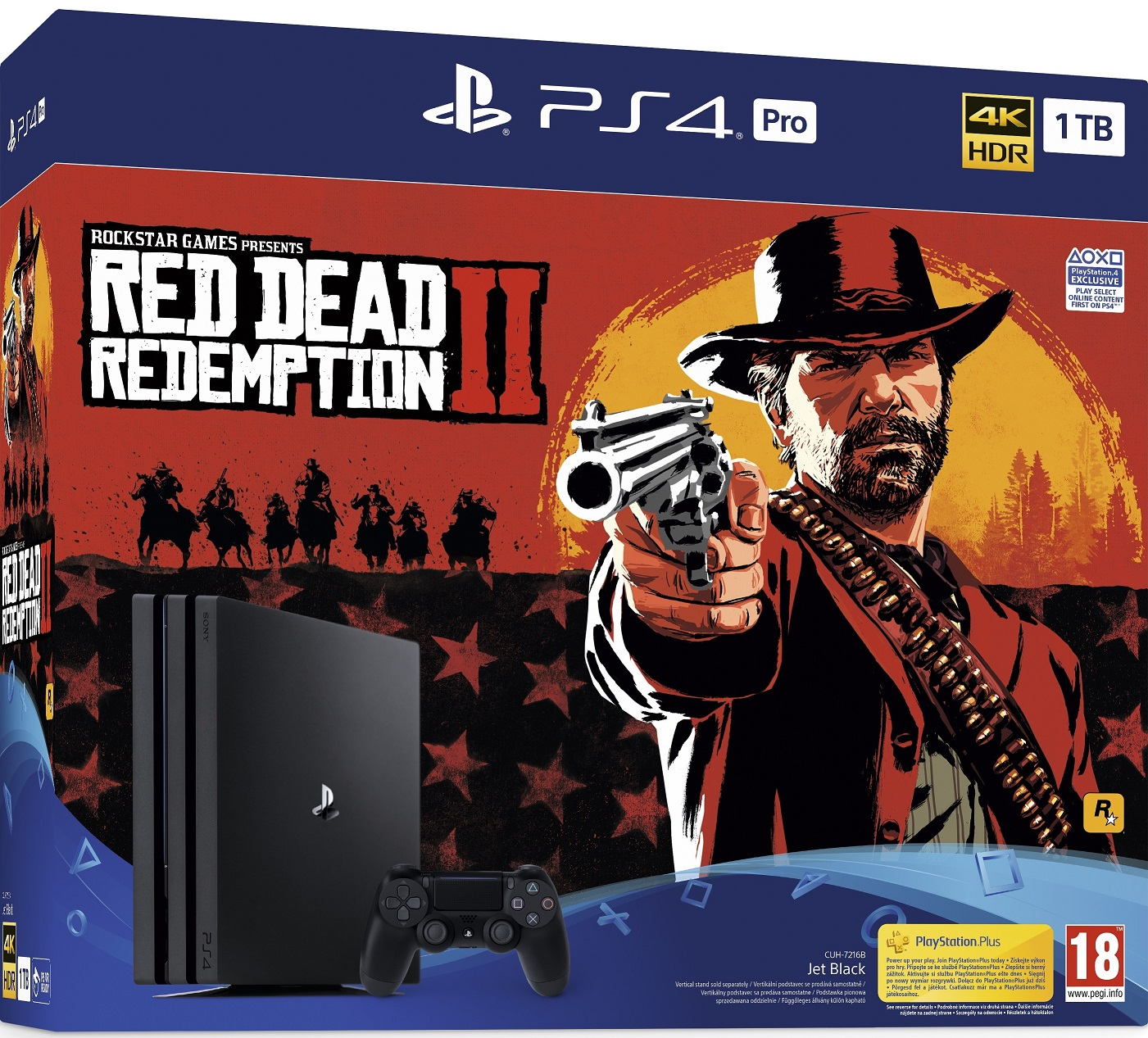 Sony PlayStation 4 Pro 1TB (PS4 Pro) + Red Dead Redemption 2 - PlayStation 4 Gépek