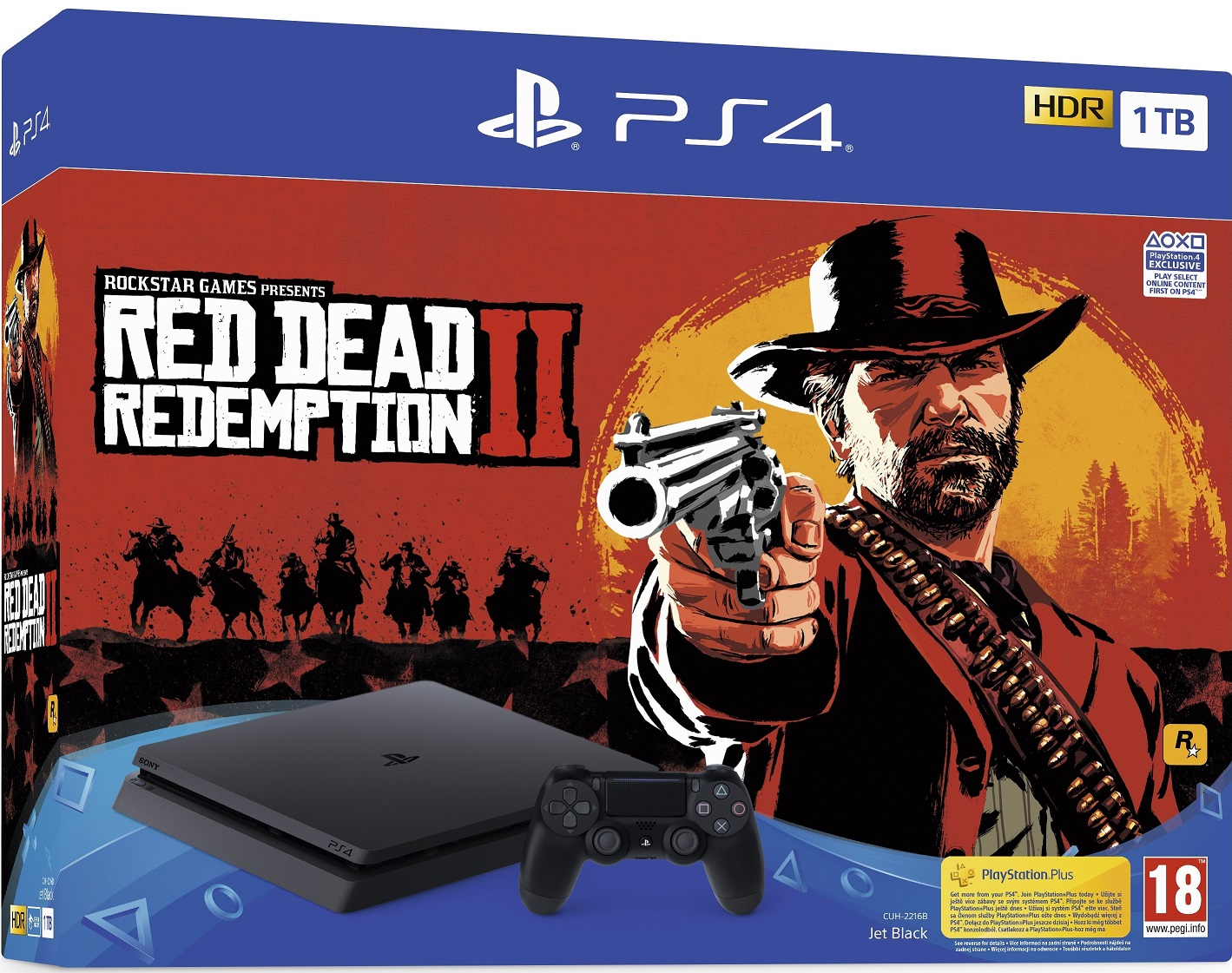 Sony PlayStation 4 Slim 1TB (PS4 Slim) + Red Dead Redemption 2 - PlayStation 4 Gépek