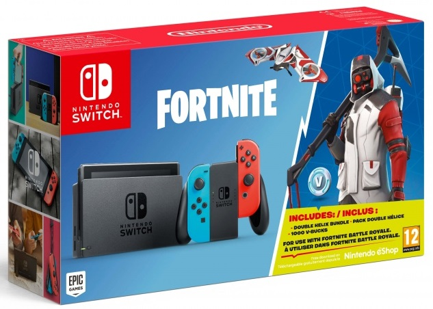 Nintendo Switch Neon Red / Neon Blue + Fortnite