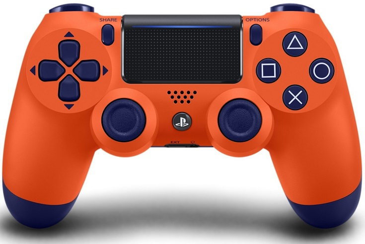 Sony Playstation 4 Dualshock 4 Wireless Controller Sunset Orange