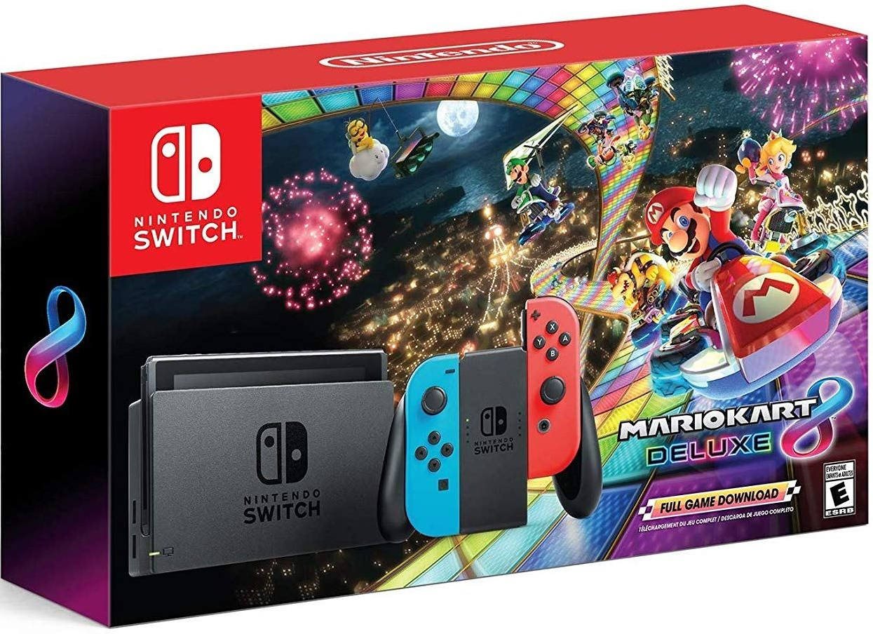 Nintendo Switch Neon Red / Neon Blue + Mario Kart 8 Deluxe