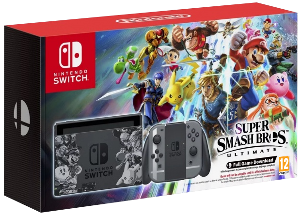 Nintendo Switch Grey Limited Super Smash Bros Ultimate Bundle