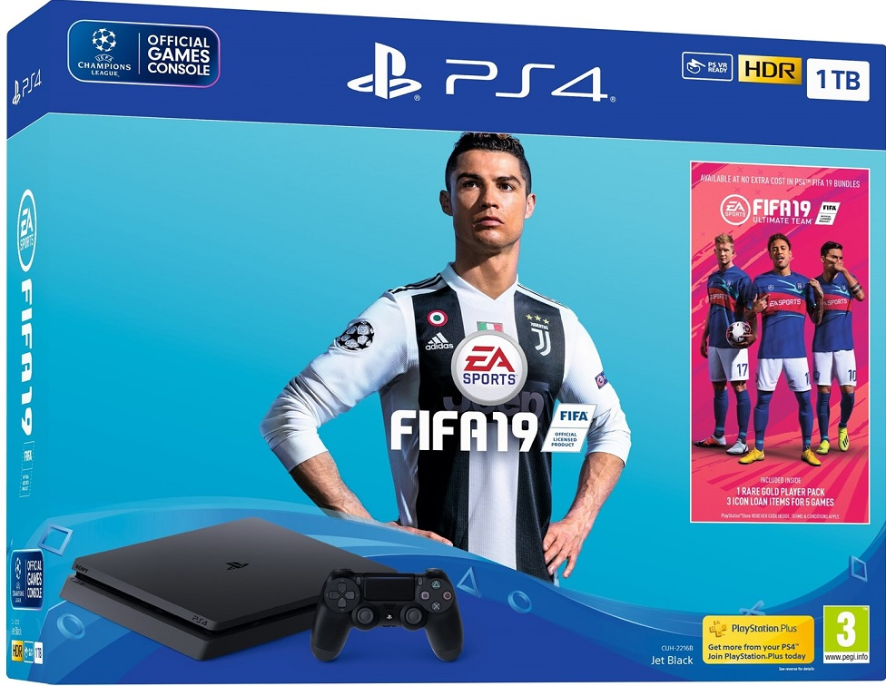 Sony PlayStation 4 Slim 1TB (PS4) + Fifa 19 - PlayStation 4 Gépek