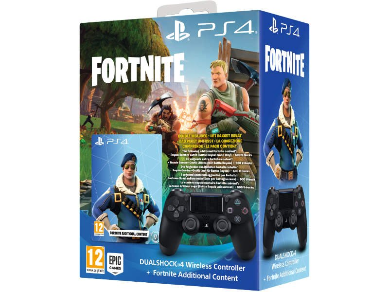 Sony Playstation 4 Dualshock 4 Wireless Controller Jet Black Fortnite Bonusz Edition