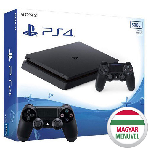 Sony Playstation 4 Slim 500 GB 2 db Kontrollerrel