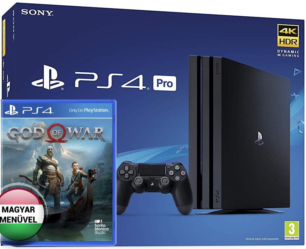 Sony PlayStation 4 Pro 1TB (PS4 Pro) + God of War (Magyar Felirat)