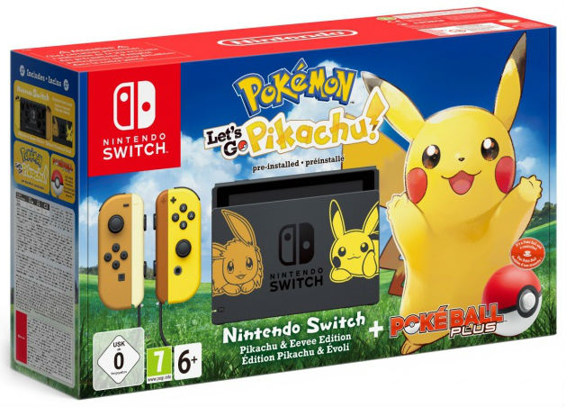 Nintendo Switch Pokémon: Lets Go Limited Edition + Poké Ball Plus + Lets Go Pikachu