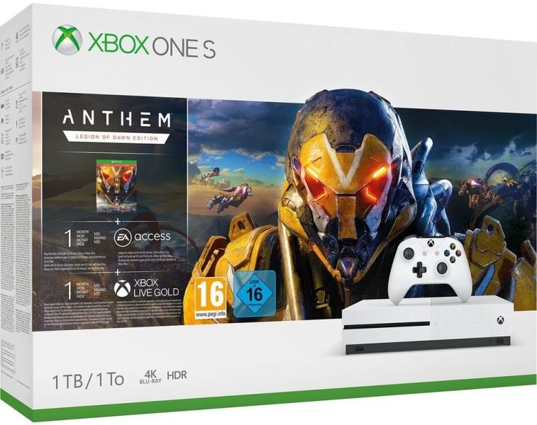 Microsoft Xbox One S 1TB + Anthem Legion of Dawn Edition Bundle