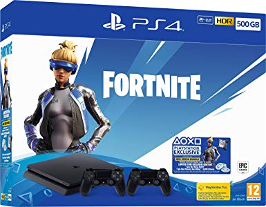 Sony Playstation 4 Slim 500 GB 2db Kontrollerrel Fortnite Neo Versa bundle