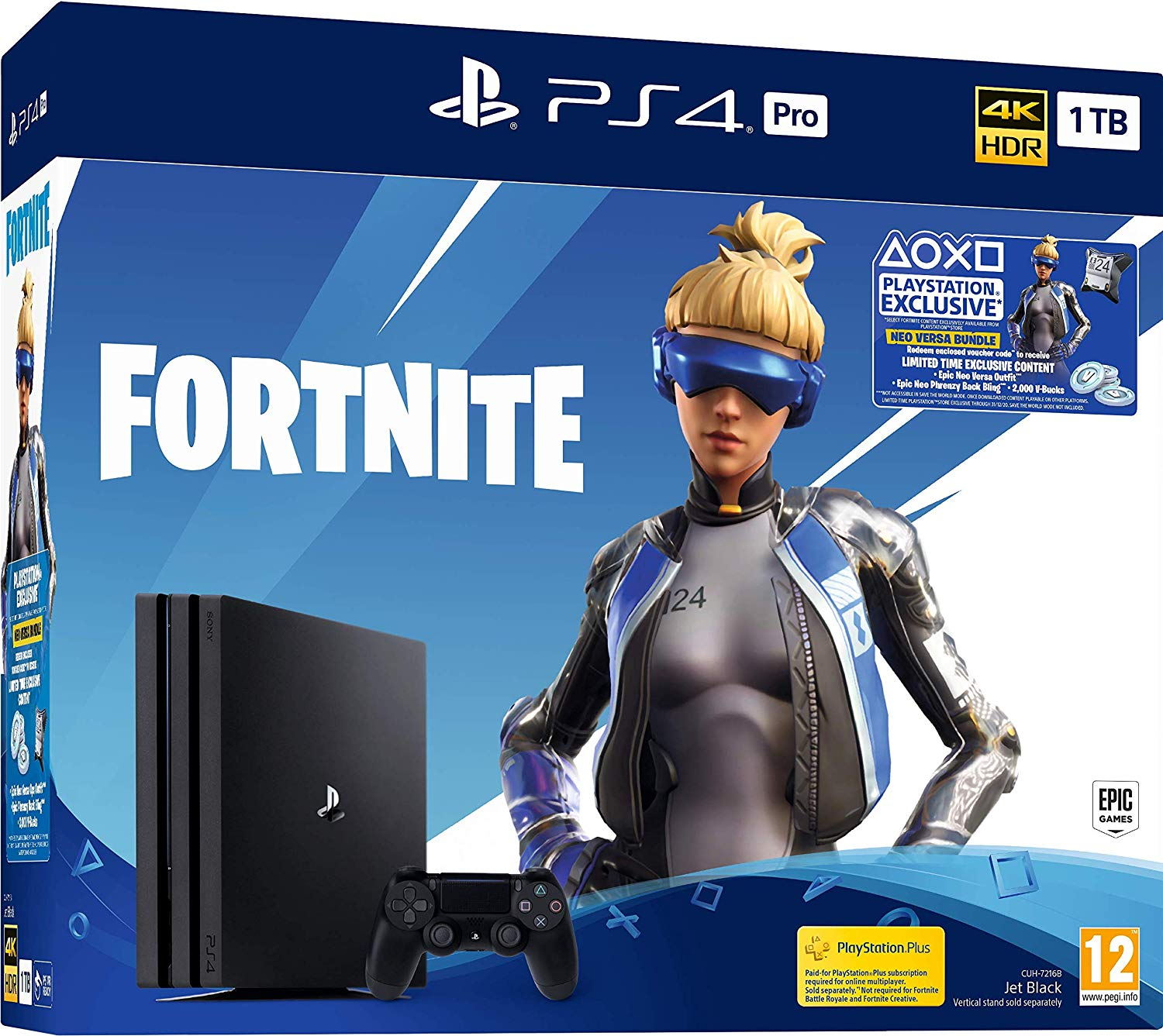 Sony Playstation 4 Pro 1TB Fortnite Neo Versa bundle