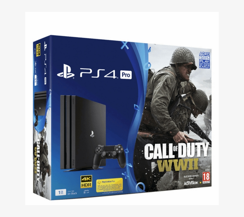 Sony PlayStation 4 Pro 1TB + Call Of Duty WWII