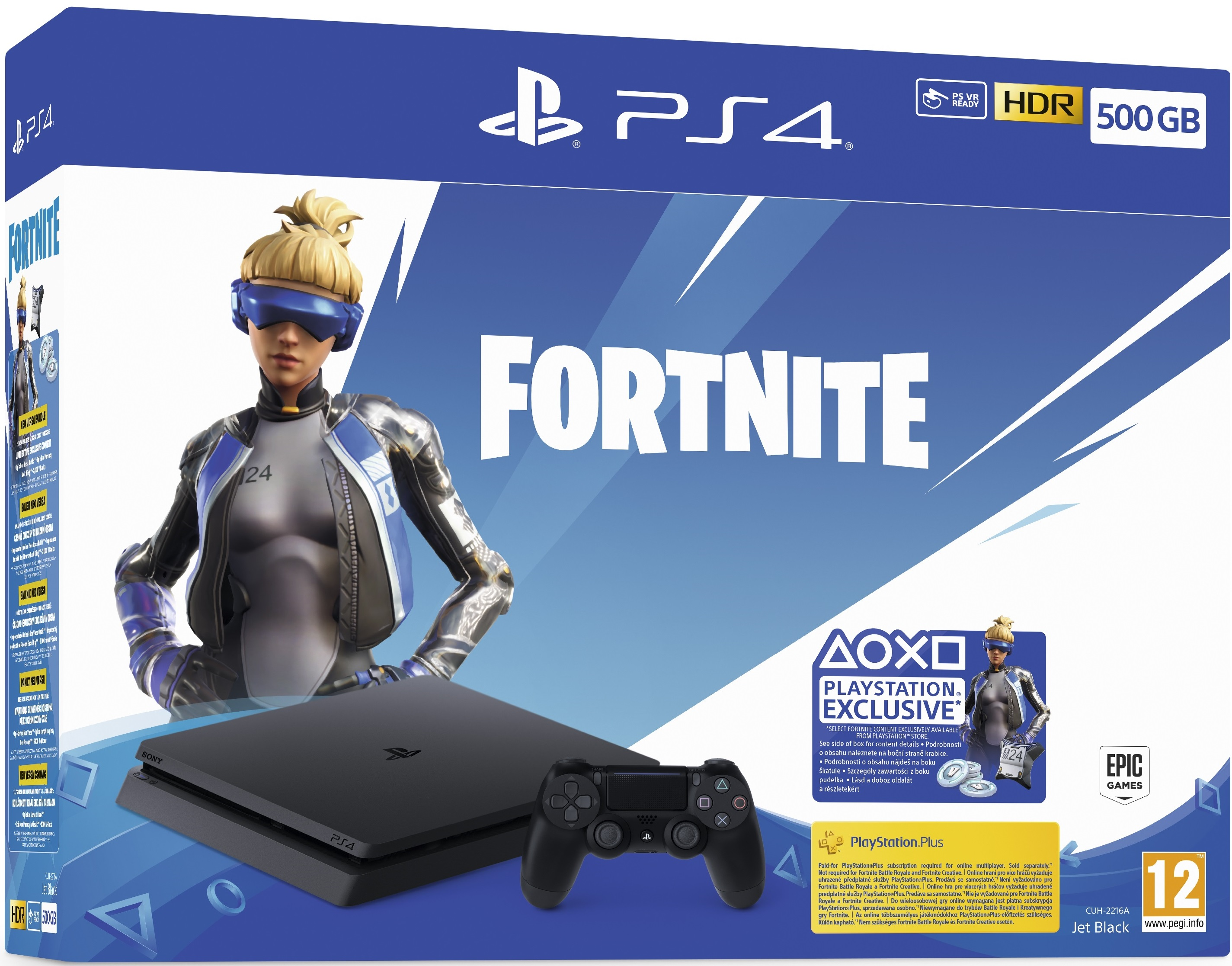 Sony Playstation 4 Slim 500GB Fortnite Neo Versa + Fortnite Deep Freeze bundle